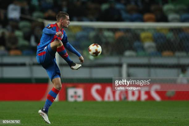Viktoria Plzen defender Lukas Hejda from Czech Republic during the match between Sporting Lisbon CP v FC Viktoria Plzen for the UEFA Europa League...