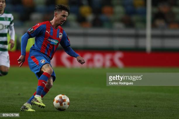 Viktoria Plzen midfielder Milan Petrzela from Czech Republic during the match between Sporting Lisbon CP v FC Viktoria Plzen for the UEFA Europa...