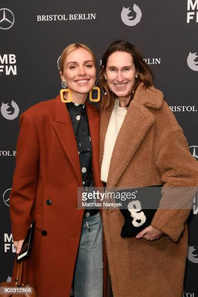 Viktoria Rader and Annette Weber attend the Dawid Tomaszewski show during the MBFW Berlin January 2018 at ewerk on January 15 2018 in Berlin Germany