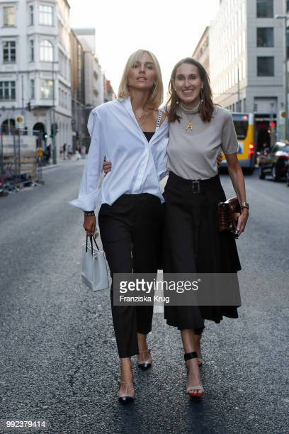 Viktoria Rader and Annette Weber during the Strenesse exclusive dinner at Borchardt Restaurant on July 5 2018 in Berlin Germany