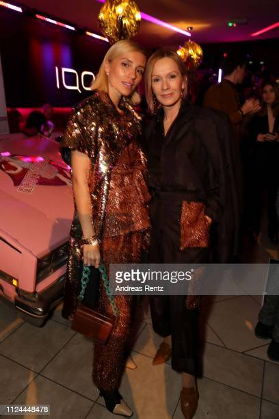 Viktoria Rader and Katja Flint attend at the William Fan Defile during 'Der Berliner Salon' Autumn/Winter 2019 at Knutschfleck on January 15 2019 in...