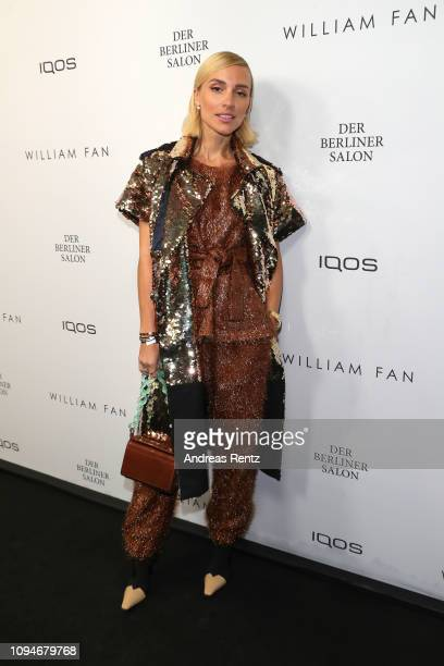 Viktoria Rader attends the William Fan Defile during 'Der Berliner Salon' Autumn/Winter 2019 at Knutschfleck on January 15 2019 in Berlin Germany