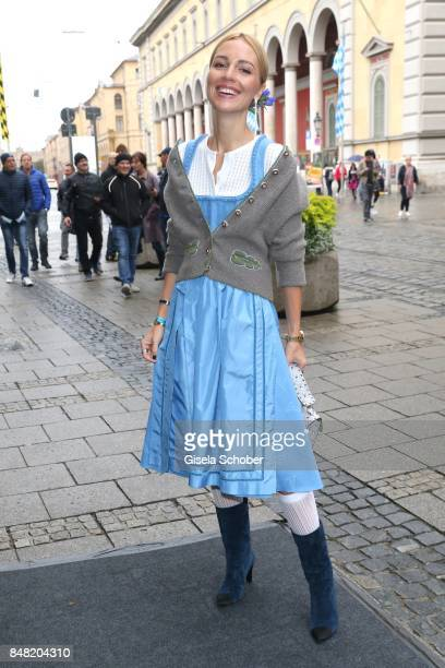 Viktoria Rader during the 'Fruehstueck bei Tiffany' at Tiffany Store ahead of the Oktoberfest on September 16, 2017 in Munich, Germany.