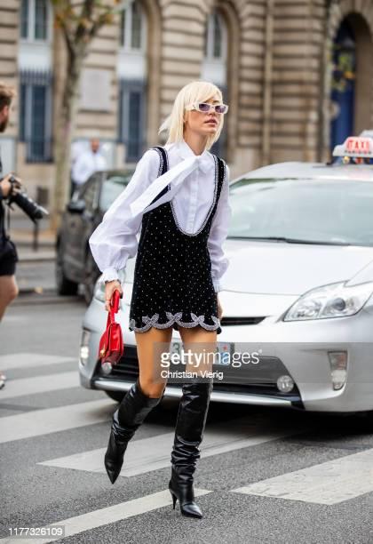Viktoria Rader is seen outside Redemption during Paris Fashion Week Womenswear Spring Summer 2020 on September 26 2019 in Paris France