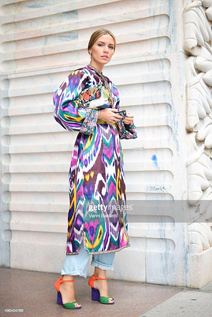 Street Style: Day 6 - Milan Fashion Week SS16 : News Photo