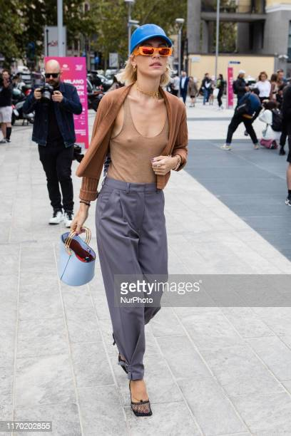 Viktoria Rader seen outside the Sportmax show during Milan Fashion Week Spring/Summer 2020 on September 20 2019 in Milan Italy
