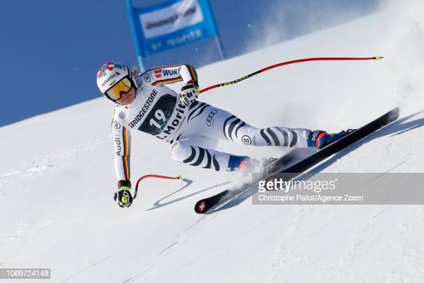 Viktoria Rebensburg of Germany competes during the Audi FIS Alpine Ski World Cup Women's Super G on December 8 2018 in St Moritz Switzerland