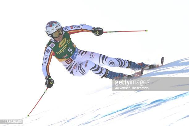 Viktoria Rebensburg of Germany competes during the Audi FIS Alpine Ski World Cup - Women's Giant Slalom at Rettenbachferner on October 26, 2019 in...