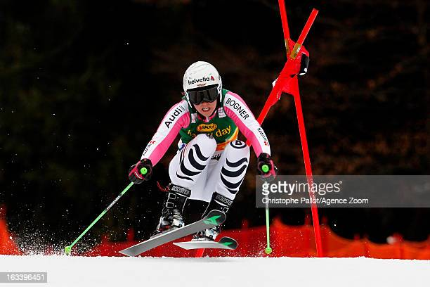 Viktoria Rebensburg of Germany competes during the Audi FIS Alpine Ski World Cup Women's Giant Slalom on March 9 2013 in Ofterschwang Germany