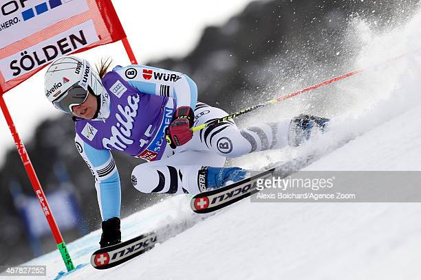 Viktoria Rebensburg of Germany competes during the Audi FIS Alpine Ski World Cup Women's Giant Slalom on October 25 2014 in Soelden Austria