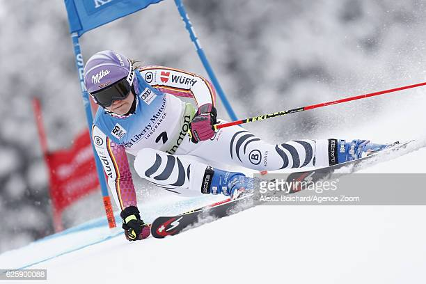 Viktoria Rebensburg of Germany competes during the Audi FIS Alpine Ski World Cup Women's Giant Slalom on November 26 2016 in Killington Vermont