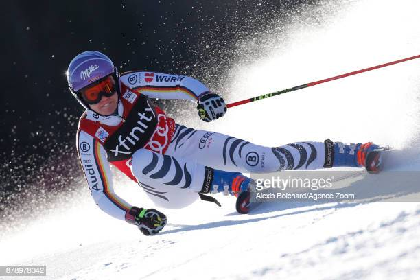 Viktoria Rebensburg of Germany competes during the Audi FIS Alpine Ski World Cup Women's Giant Slalom on November 25 2017 in Killington Vermont
