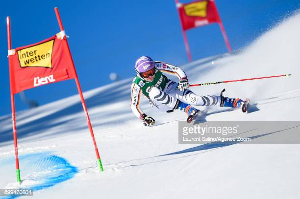 Viktoria Rebensburg of Germany competes during the Audi FIS Alpine Ski World Cup Women's Giant Slalom on December 29, 2017 in Lienz, Austria.
