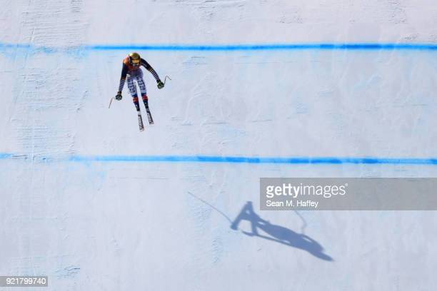 Viktoria Rebensburg of Germany competes during the Ladies' Downhill on day 12 of the PyeongChang 2018 Winter Olympic Games at Jeongseon Alpine Centre...