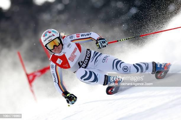 Viktoria Rebensburg of Germany in action during the Audi FIS Alpine Ski World Cup Women's Giant Slalom on November 24 2018 in Killington USA