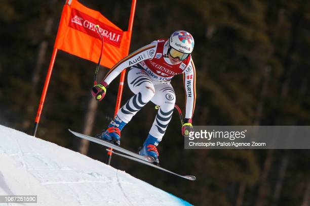 Viktoria Rebensburg of Germany in action during the Audi FIS Alpine Ski World Cup Women's Downhill on December 1 2018 in Lake Louise Canada