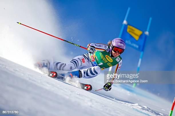 Viktoria Rebensburg of Germany in action during the Audi FIS Alpine Ski World Cup Women's Giant Slalom on October 28 2017 in Soelden Austria