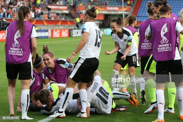 Viktoria Schnaderbeck of Austria women during the UEFA WEURO 2017 quarter finale match between Austria and Spain at Koning Willem II stadium on July...