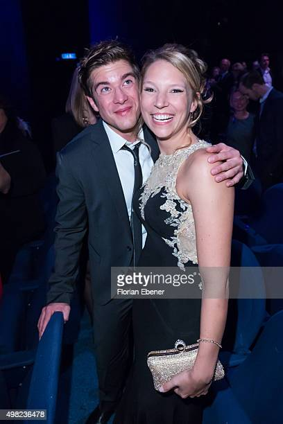 Viktoria Schuessler and Philipp Danne attend the 'Bodyguard Das Musical' gala premiere at Musical Dome Koeln on November 21 2015 in Cologne Germany