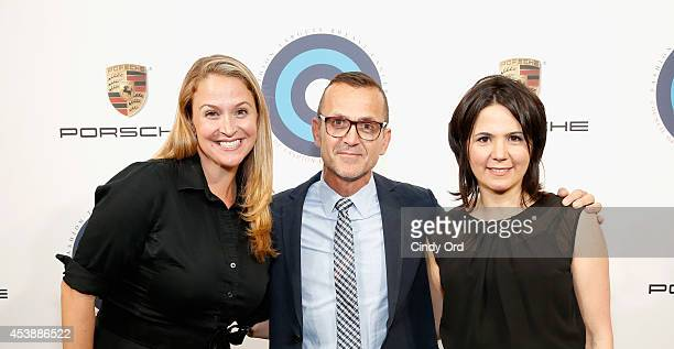 Viktoria Wohlrapp Steven Kolb and Merideth Gilmore attend the CFDA Celebrates Fashion Targets Breast Cancer 20th Anniversary event with Maria...