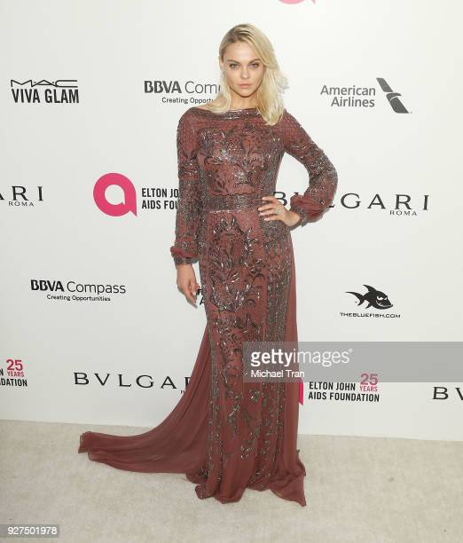 Viktoriya Sasonkina arrives to the 26th Annual Elton John AIDS Foundation's Academy Awards Viewing Party held at West Hollywood Park on March 4 2018...