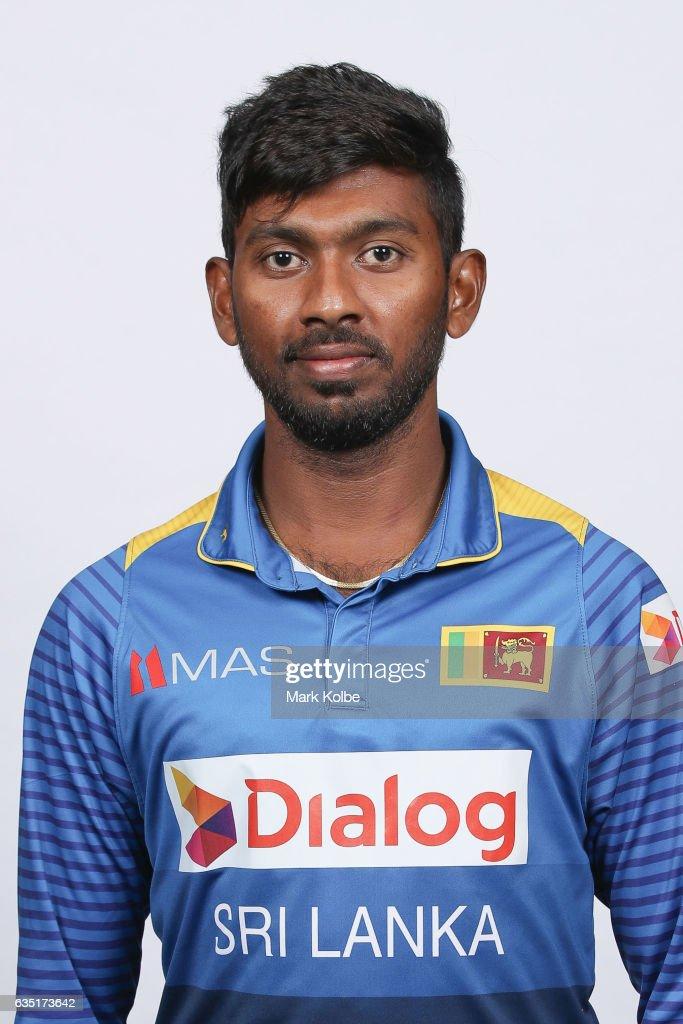 Vikum Sanjaya of Sri Lanka poses during a Sri Lanka headshots session at the Realm Hotel on February 14, 2017 in Canberra, Australia.