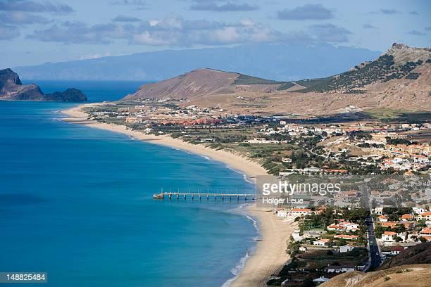 Vila Baleira and Porto Santo beach seen from Portela.