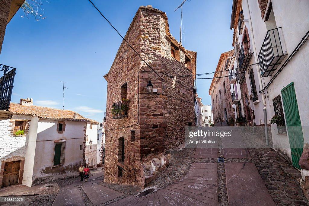 Vilafames, streets and corner : Stock Photo