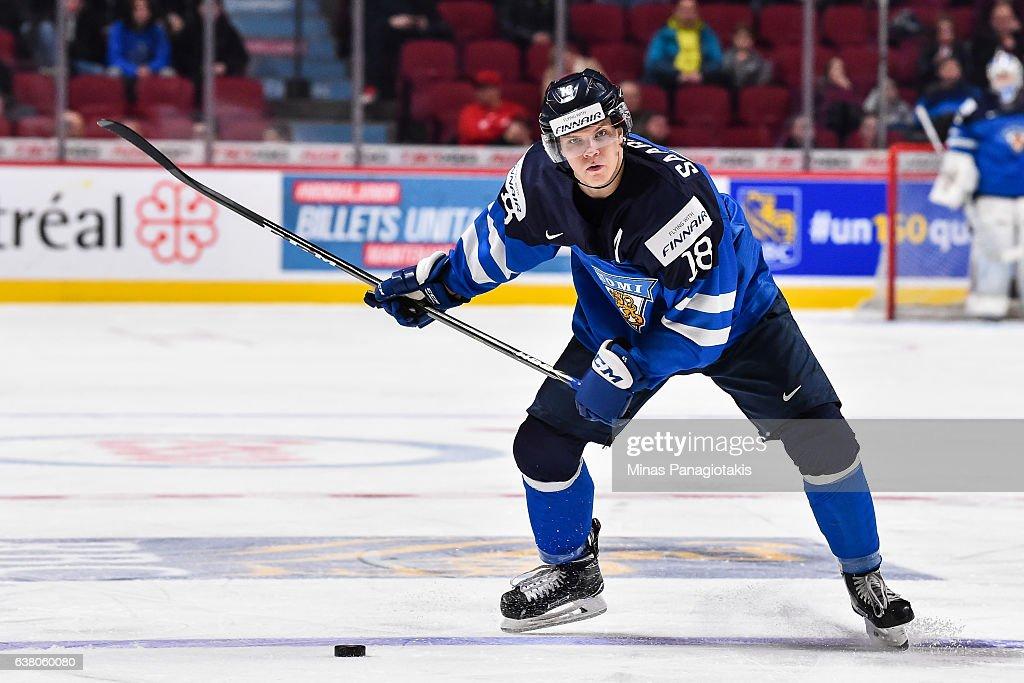 Latvia v Finland - Relegation - 2017 IIHF World Junior Championship : News Photo