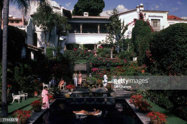 A villa and swimming pool in Cuernavaca Mexico January 1985