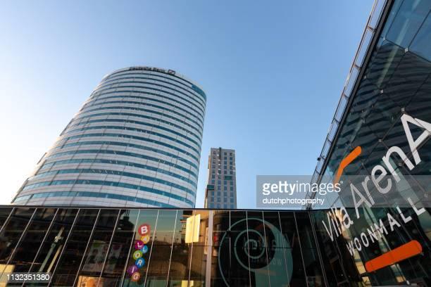 Villa Arena shopping mall en Deutsche Bank in Amsterdam Bijlmer, Netherlands-2019