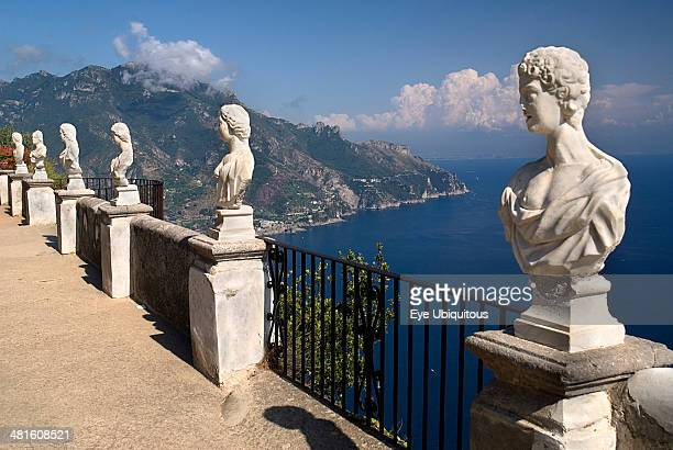 Villa Cimbrone Statues on the Belvedere of Infinity overlooking sea
