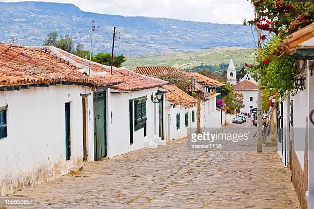 villa de leyva en colombia - colombia fotografías e imágenes de stock