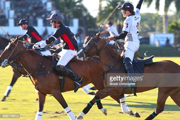 Villa del Lago vs Enigma at Palm Beach International Polo Club on January 24 2016 in Wellington Florida
