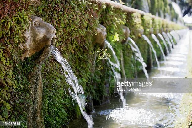 villa d'este gardens - italian culture stock pictures, royalty-free photos & images