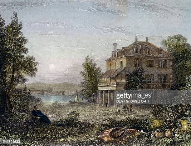 Villa Diodati near Geneva where Lord Byron Mary Shelley Percy Shelley and John Polidori stayed in 1816 creating the literary characters of Dracula...