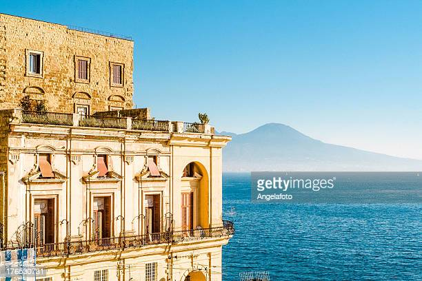 villa donn'anna, bay of naples, italy. - napoli stock pictures, royalty-free photos & images