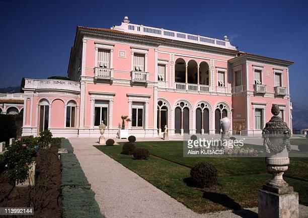 Villa Ephrussi de Rotschild's gardens in St Jean Cap Ferrat Alpes Maritimes France On March 05 2004