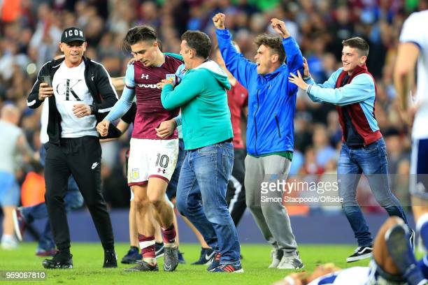 Villa fans congratulate Jack Grealish of Villa at the end of the Sky Bet Championship Play Off Semi Final Second Leg match between Aston Villa and...