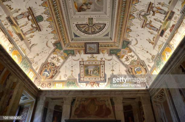Villa Farnese by Barozzi Jacopo known as Vignola 1550 1559 16th Century Italy Lazio Caprarola Villa Farnese Sala di Giove by Taddeo Zuccari Photo by...