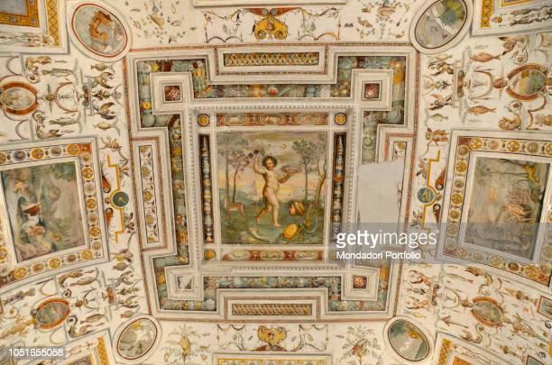 Villa Farnese by Barozzi Jacopo known as Vignola 1550 1559 16th Century Italy Lazio Caprarola Villa Farnese Detail Stanza Della Primavera by Taddeo...
