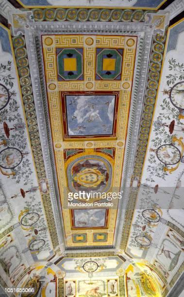 Villa Farnese by Barozzi Jacopo known as Vignola 1550 1559 16th Century Italy Lazio Caprarola Villa Farnese Detail Winter room by Federico Zuccari...
