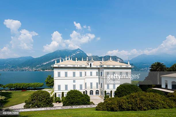 villa melzi on the shore of lake como, italy. - ogphoto stock pictures, royalty-free photos & images
