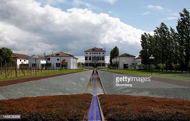 Villa Minelli Benetton Group SpA's headquarters stands in Ponzano Veneto near Treviso Italy on Tuesday April 24 2012 Alessandro Benetton was...