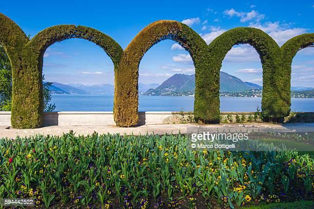 villa pallavicino, stresa, verbano cusio ossola, lake maggiore, piedmont, italy. - stresa stock pictures, royalty-free photos & images