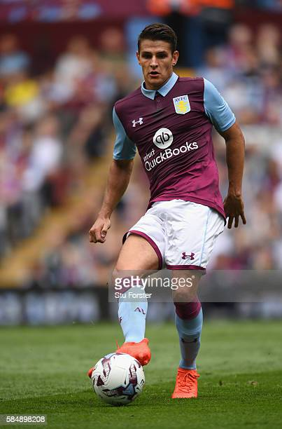 Villa player Ashley Westwood in action during the pre season friendly between Aston Villa and Middlesbrough at Villa Park on July 30 2016 in...