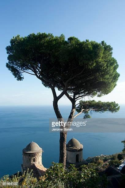 Villa Rufolo and sea