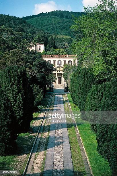 Villa San Martino, the summer residence of Napoleon Bonaparte, near Portoferraio, Elba, Tuscan Archipelago national park, Tuscany, Italy.