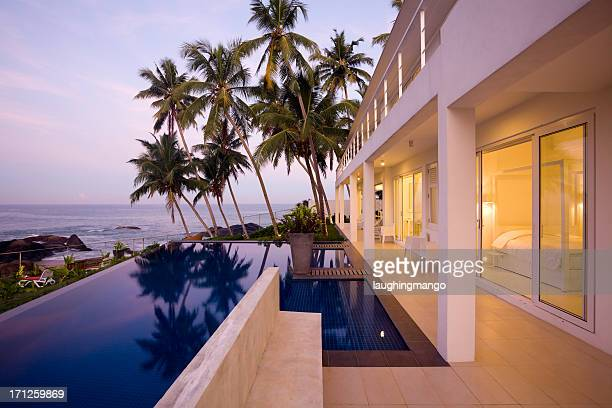 villa sri lanka - beach house stock pictures, royalty-free photos & images