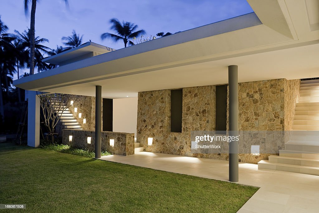 Villa Walkway : Stock Photo